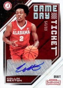 Game Day Ticket Signatures Collin Sexton