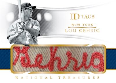 ID Tags Lou Gehrig