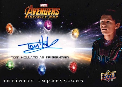 Infinite Impressions Auto Tom Holland as Spider-Man