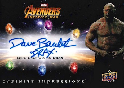 Infinite Impressions Inscriptions Dave Bautista as Drax