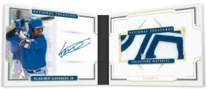 NT Signature Materials Booklet Holo Gold Vladimir Guerrero Jr
