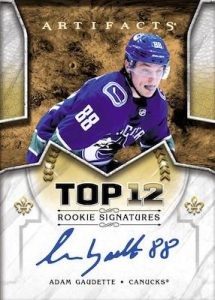 Top 12 Rookie Signatures Adam Gaudette