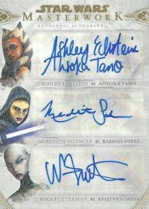 Triple Auto Ashley Eckstein as Ahsoka Tano, Meredith Salenger as Barriss Offee, & Nika Futterman as Asajj Ventress