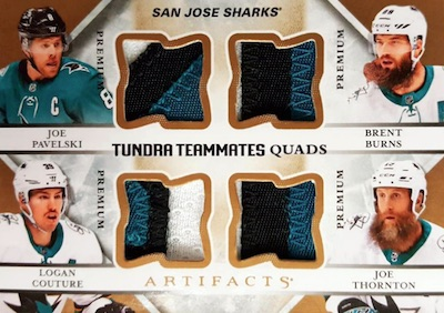 Tundra Teammates Quad Joe Pavelski, Brent Burns, Logan Couture, Joe Thornton