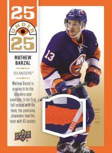 25 Under 25 Jersey Relics Mathew Barzal