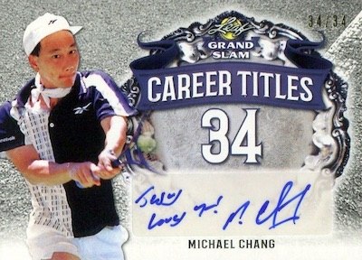 Career Titles Michael Chang