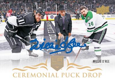 Ceremonial Puck Drop Auto Willie O'Ree