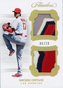 Dual Memorabilia Gold Patches Shohei Ohtani