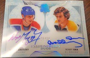 Enshrinements Duos Auto Wayne Gretzky, Bobby Orr