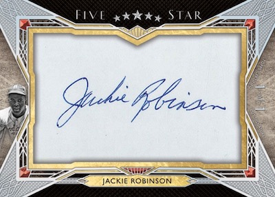 Five Star Cut Signatures Jackie Robinson