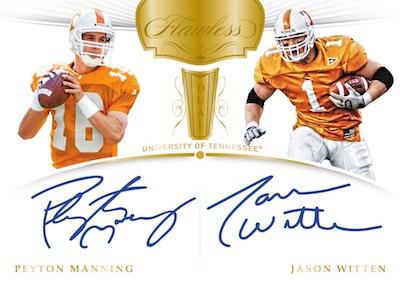 Flawless Dual Signatures Gold Peyton Manning, Jason Witten