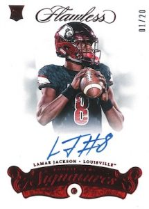 Flawless Rookie Gems Signatures Ruby Lamar Jackson
