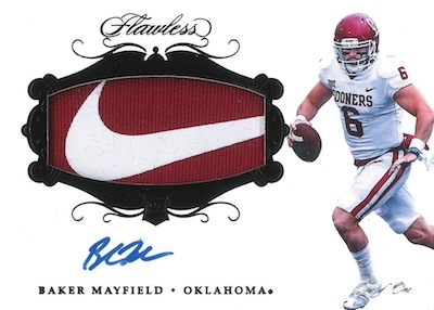 Flawless Rookie Patch Auto Black Brand Logo Baker Mayfield