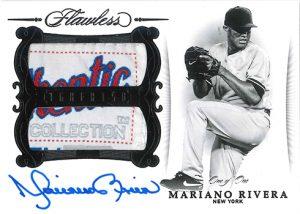 Greats Dual Memorabilia Auto Black Mariano Rivera