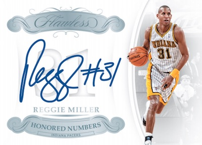 Honored Numbered Autos Reggie Miller