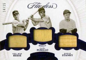Legendary Trios Relics Pee Wee Reese, Carl Furillo, Eddie Stanky