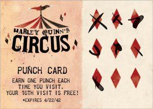 Membership Card Harley Quinn's Circus