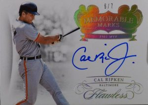 Memorable Marks Gold Cal Ripken