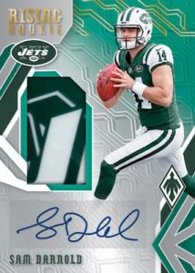 Rising Rookie Material Signatures Football Sam Darnold