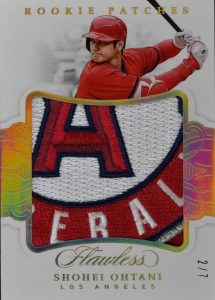 Rookie Jumbo Patches Gold Shohei Ohtani