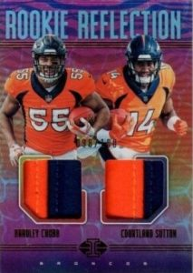 Rookie Reflection Dual Patch Bradley Chubb, Courtland Sutton