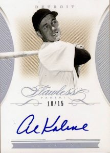 Supplied Cards Flawless Signatures Al Kaline