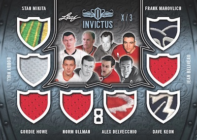 The Invictus 8 Stan Mikita, Bobby Hull, Gordie Howe, Norm Ulman, Alex Delvecchio, Dave Keon, Jean Beliveau, Fran Mahovlich MOCK UP