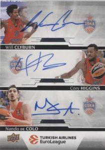 Autograph Achievement Will Clyburn, Cory Higgins, Nando De Colo