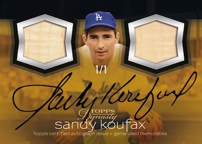 Autographed Dual Relic Sandy Koufax