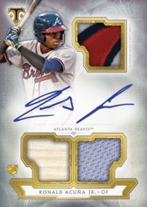 Base Rookie and Future Phenoms Auto Relics Ronald Acuna Jr