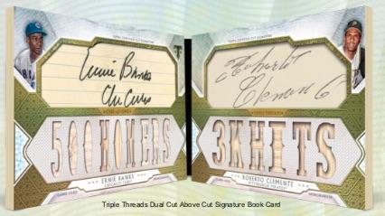 Dual Cut Above Cut Signatures Ernie Bank, Roberto Clemente