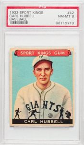 Graded 1033 Sportskings Cards Carl Hubbell