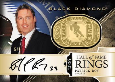 Hall of Fame Rings Gold Spectrum Auto Patrick Roy