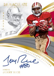 Immaculate Careers Auto Jerry Rice