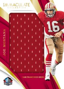 Immaculate HOF Jerseys Joe Montana