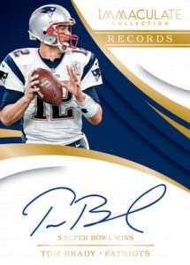 Immaculate Records Auto Tom Brady