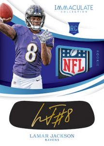 Immaculate Rookie Eye Black Auto Tag Lamar Jackson