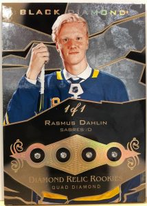Quad Diamond Relic Rookies Pure Black Rasmus Dahlin