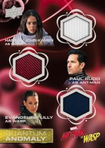 Quantum Anomaly Triple Relics Hannah John-Kamen as Ghost, Paul Rudd as Ant-Man, Evangeline Lily as Wasp