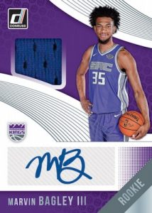 Rookie Material Signatures Marvin Bagley III
