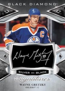 Silver on Black Signatures Wayne Gretzky