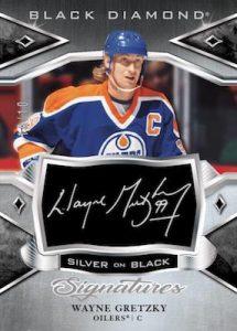Silver on Black Signatures Wayne Gretzky