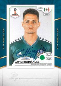 World Cup Sticker Signatures Javier Hernandez