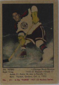 1951-52 Parkhurst Buybacks Jim Peters