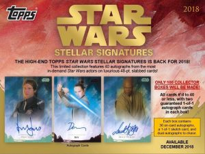 2018 Topps Star Wars Stellar Signatures