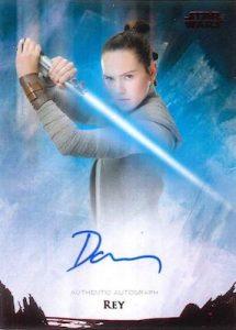 Base Auto Daisy Ridley as Rey