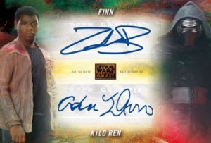 Dual Autographs Orange John Boyega as Finn & Adam Driver as Kylo Ren