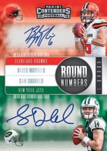 Round Numbers Dual Auto Baker Mayfield, Sam Darnold
