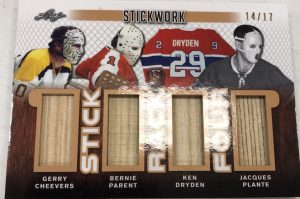 Stick Rack 4 Gerry Cheevers, Bernie Parent, Ken Dryden, Jacques Plante