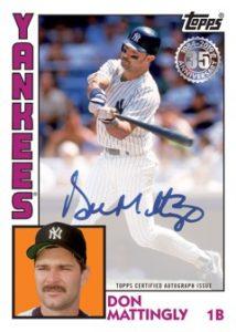 1984 Topps Baseball Autos Don Mattingly